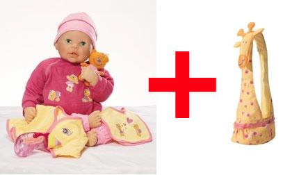 lalka mówi po polsku + nosidełko