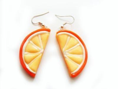 kolczyki pomarańczki