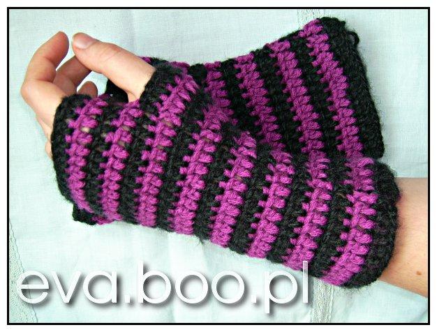 Rękawiczki bez palców - mitenki..