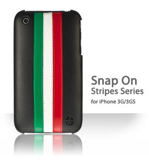 Etui TREXTA z serii Stripes dla iPhone 3G/3GS [GWR on BLACK]