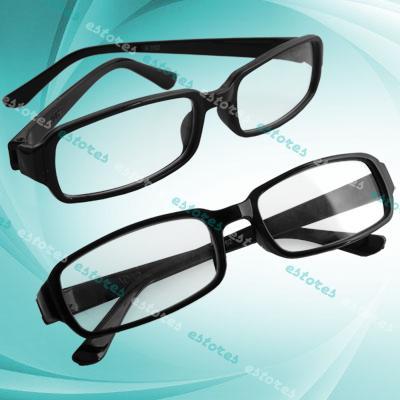 Czarne okulary UNISEX LENS Retro