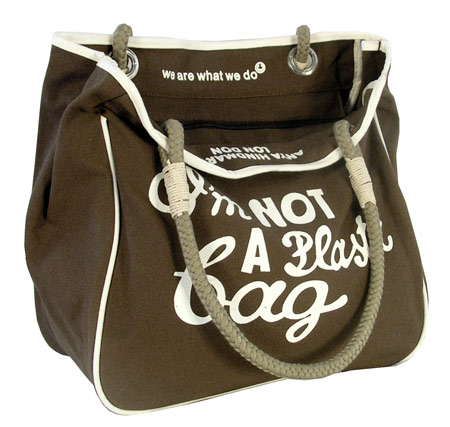 Torba - IM NOT PLASTI BAG - brązowa lub zielona
