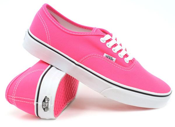 Vansy vans neon pink