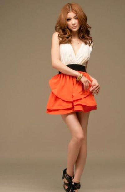 Pomarańczowa sukienka 2w1