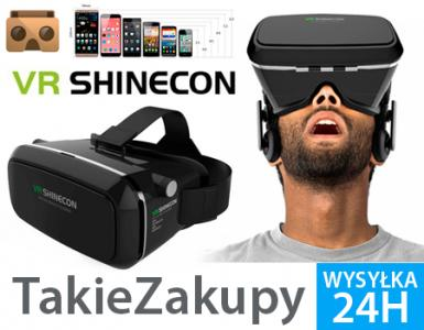 Okulary 3D 360 VR SHINECON Google Cardboard Oculus