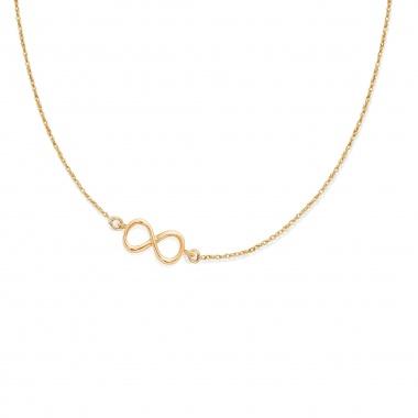 Łańcuszek złoty z wisiorkiem z Lilou