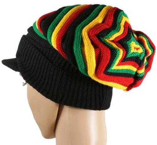 Czapka w barwach reggae