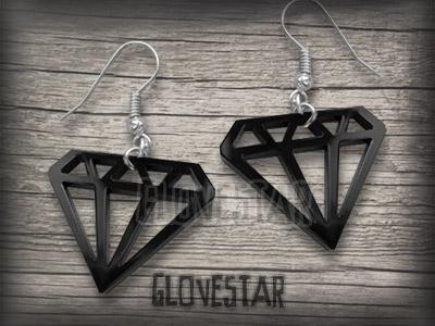 glovestar KOLCZYKI DIAMENTY punk rock emo diament (712145544) - Aukcje internetowe Allegro