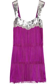 sukienkę z frendzlami (różową)