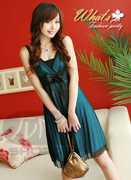 Sukienka czarno niebieska