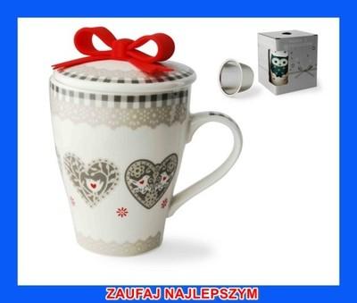 Kubek ZAPARZACZ herbaty ziół 5262 SERCE serca