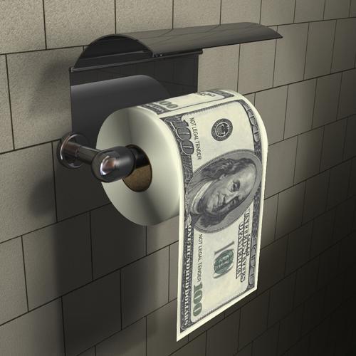 Papier toaletowy dolary