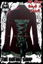 Velvet Fitted BURGUNDY-RED Victorian Gothic Jacket