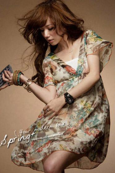 Szyfonowa sukienka japan style.