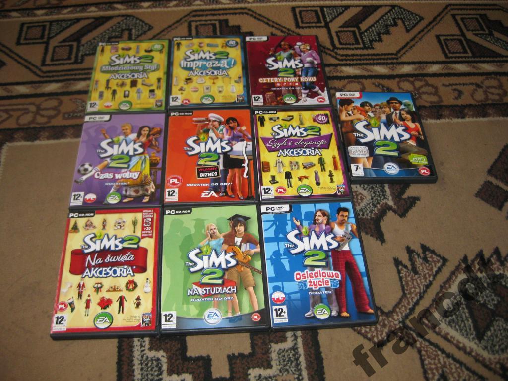 Sims 2 + 9 dodatków