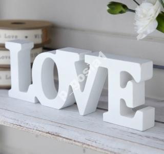 Napis LOVE biały SHABBY CHIC VINTAGE PROWANSJA