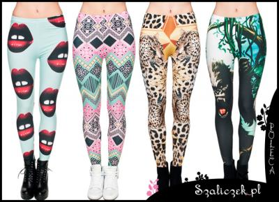 LEGGINSY getry FULL PRINT 3D leginsy