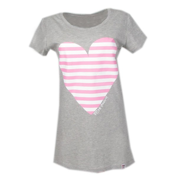 Szary T-Shirt Femi Lajn