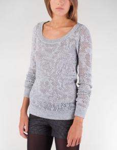 Sweter w ażurowe kwiaty