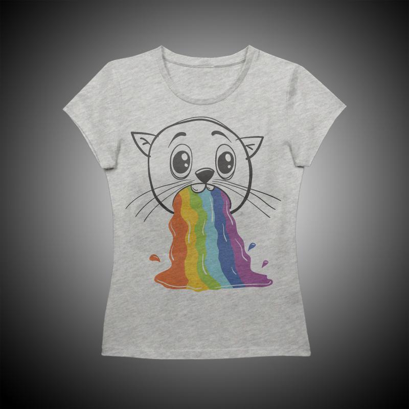 Koszulka Rzygam Tęczą.