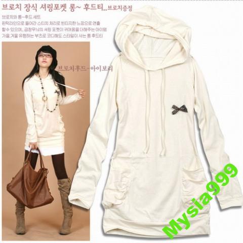 Biała bluza japan style z kokardkom