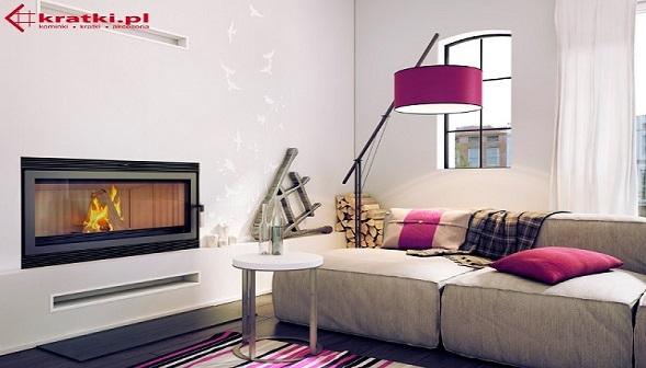 Kominek elektryczny w nowoczesnym mieszkaniu
