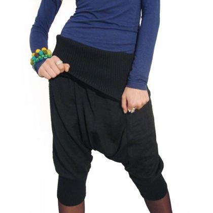 spodnie pumpy - szerokie w kroku