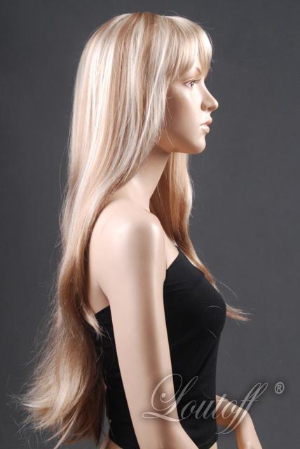 Peruka długie blond włosy.