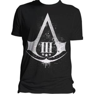 Assassins Creed III Distressed Shield t-shirt  L