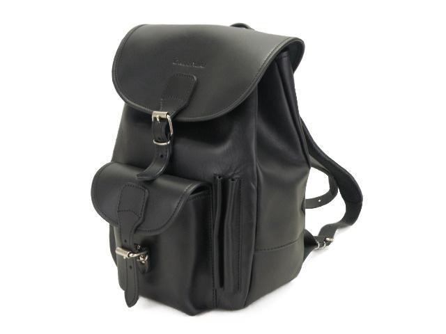 Plecak skórzany czarny naturalna skóra jucht!
