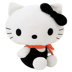 Pluszowa kotka Hello Kitty w czarnej sukience