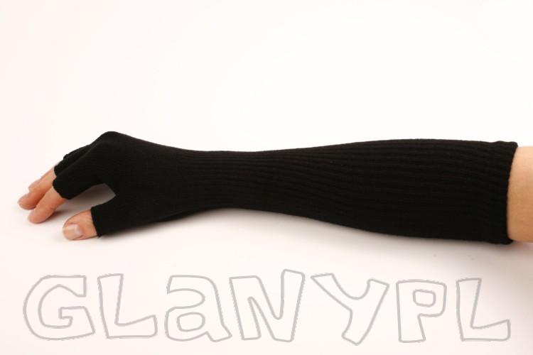 mitenki długie czarne