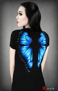 T-shirt z skrzydłami motyla
