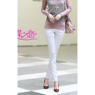 Kolorowe elastyczne spodnie damskie