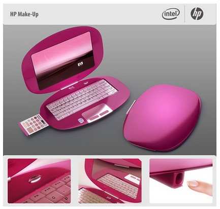 rozowy laptop typowo dla kobiet :)