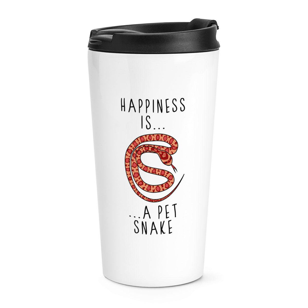 Happiness Is A Pet Snake Travel Mug