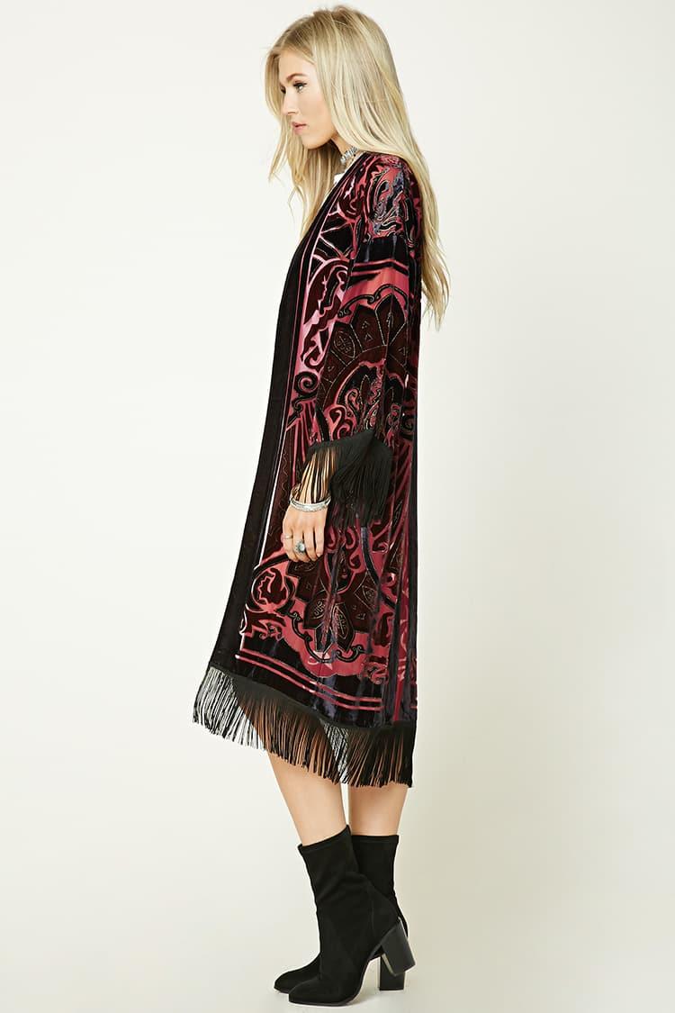 Aksamitne kimono Forever21
