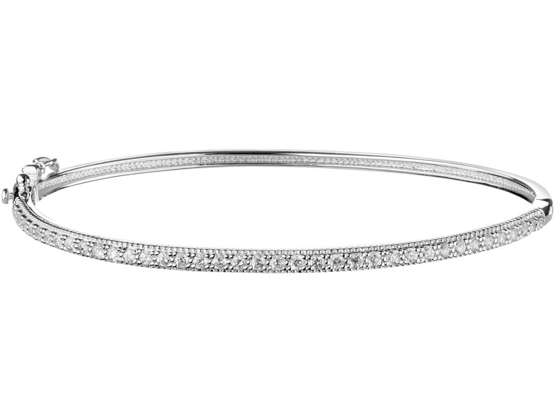 Bransoleta srebrna z cyrkoniami Apart