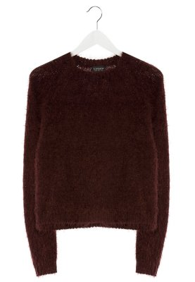 Bordowy sweter Monster Topshop
