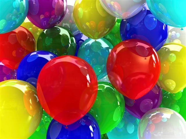 100 balonów napełnionych helem