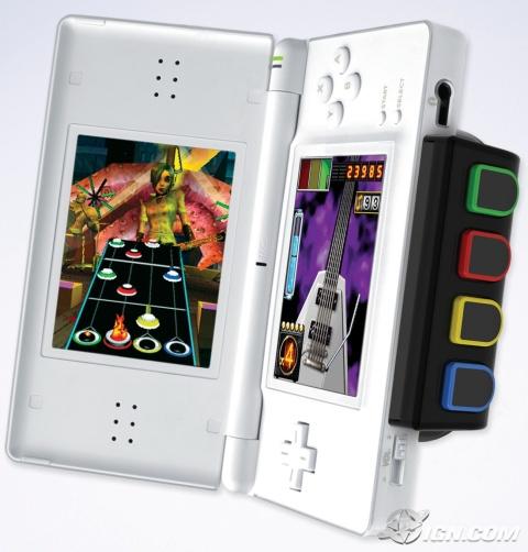 Nintendo ds z nakładką Guitar Hero