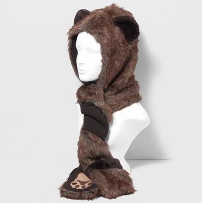 Wild Bear Hood Claire's