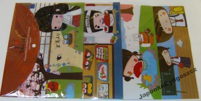 Teczka A4 kokeshi maneki neko tokio Japan Style