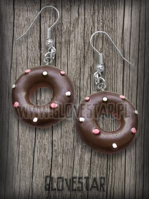 kolczyki donuts