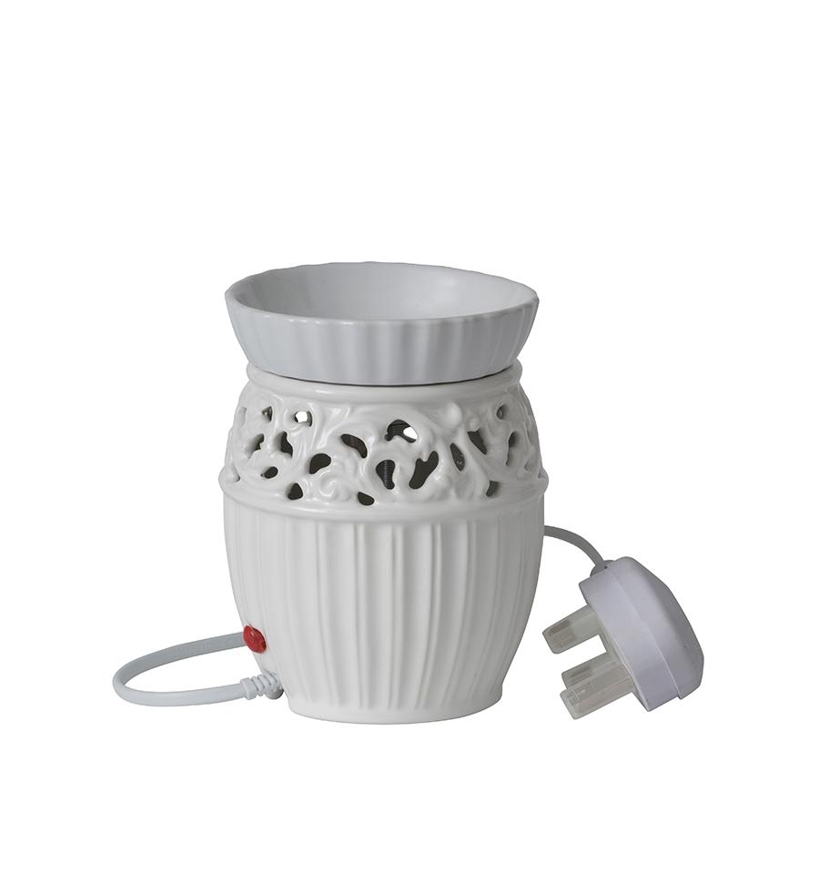 Biały kominek elektryczny