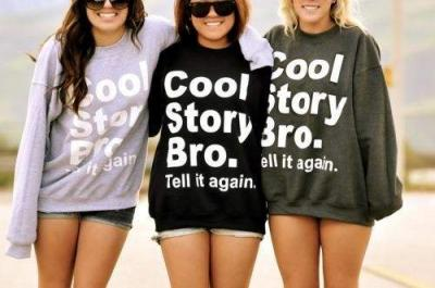 cool story bro bluza tell it again. oryginalna M