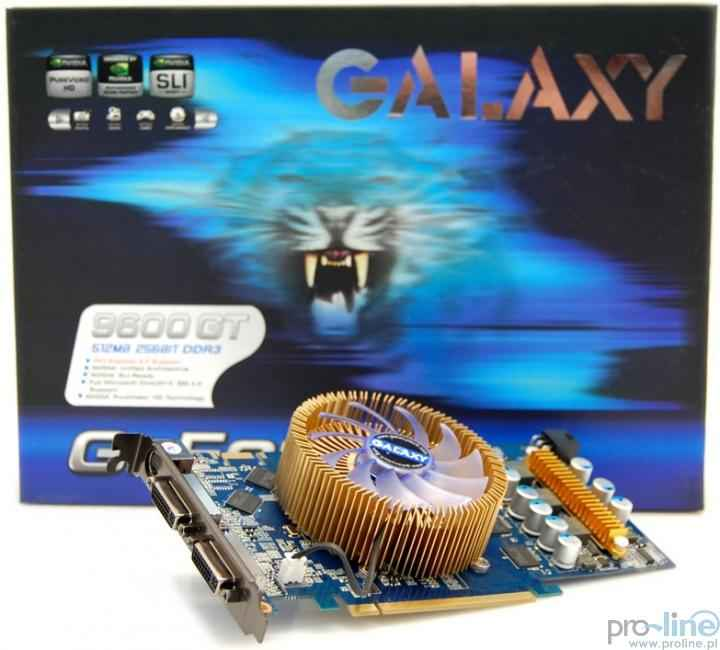 Galaxy GF 9600GT 512MB DDR3 256Bit PCI-E