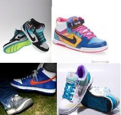 całe mnóstwo butów nike ;D