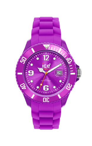Fioletowy zegarek 'Ice Swatch'