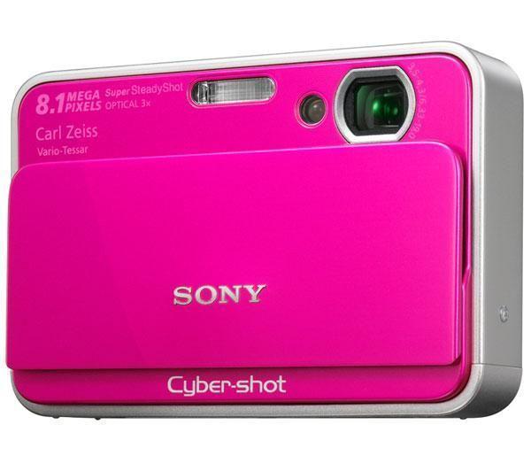 Rózowy aparat cyfrowy